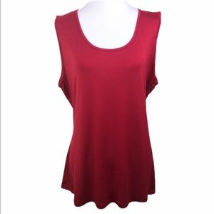 Forever 21 Rich Ruby Red Open Back Sleeveless Top